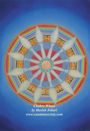 The Chakra Wheel Mandala - by Harish Johari